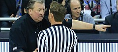 West Virginia head coach Bob Huggins during an NCAA college basketball game against Iowa State in the finals of the Big 12 tournament in Kansas City, Mo., Saturday, March 11, 2017. (AP photo)