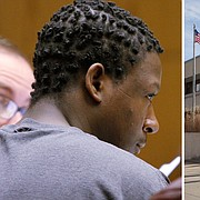 Rontarus Washington Jr. appears in Douglas County District Court Thursday, Sept. 3, 2015, for a preliminary hearing to determine if there's enough probable cause to bind him over on a charge of first-degree murder in connection with the slaying of Justina Altamirano Mosso.