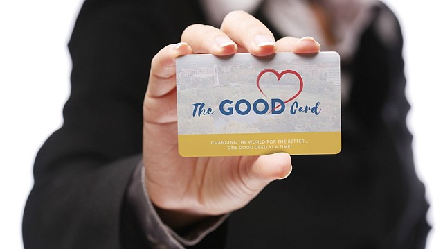 """Scattered around Lawrence and the KU campus are """"good cards"""" meant to inspire good deeds from whoever stumbles across them. If you find one of the tiny cards printed in KU colors, you have exactly 10 minutes to engage in an act of kindness before passing the card (each comes with a short set of instructions) along to the next person."""