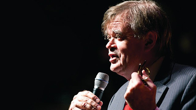 "Garrison Keillor, the award-winning storyteller, humorist and former ""Prairie Home Companion"" host, will visit the Lied Center on Sunday, Nov. 5, as part of his national ""Just Passing Through"" tour."