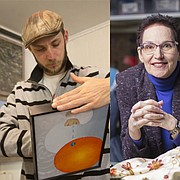 The 2017 Phoenix Award winners are, from left: Nicholas Ward, visual artist; Jane Pennington, costume designer for Theatre Lawrence; and Steve Richardson, facility maintenance manager for the Lawrence Arts Center.