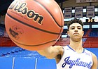 Five-star guard Quentin Grimes, from The Woodlands, Texas, signed a National Letter of Intent to play men's basketball at the University of Kansas on Wednesday, Nov. 15, 2017.