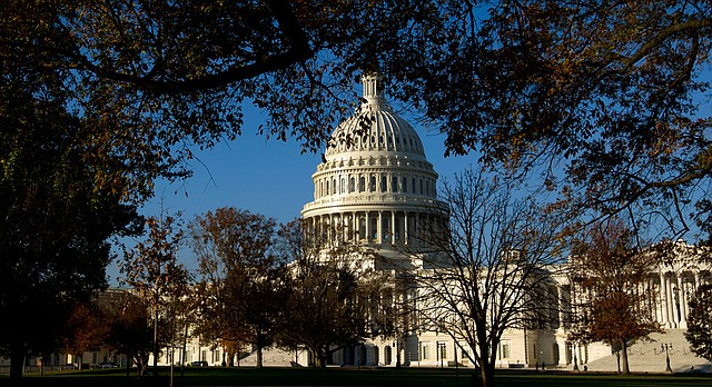 The Capitol is seen in Washington, Wednesday, Nov. 15, 2017, as Republicans works on reshaping the tax bill. ( AP Photo/Jose Luis Magana)