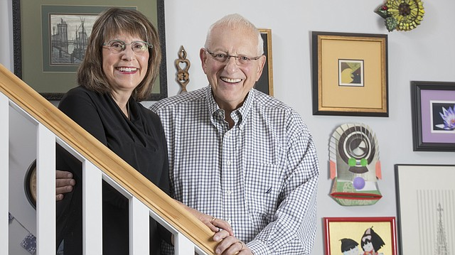 Bob and Anne Schulman are pictured in their Lawrence home. Bob was simultaneously diagnosed with leukemia and lymphoma in November 2016 but is now in remission.