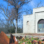 The mausoleum at Oak Hill Cemetery is pictured on Thursday, Nov. 16, 2017. The cemetery was recently named to the National Register of Historic Places, which allows the city to apply for grants to repair the structure.