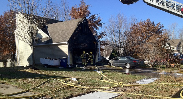 Lawrence firefighters responded Thursday morning to the scene of a house fire at 2901 Atchison Circle.