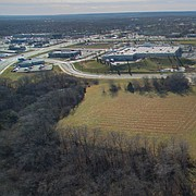 Undeveloped land owned by the City of Lawrence, at 5100 Overland Drive, is seen from the north, looking south, Tuesday, Dec. 5, 2017. The city has recommended the site, just north of the Walmart location at Sixth Street and Wakarusa Drive, as a location for a new $17 million police headquarters facility.