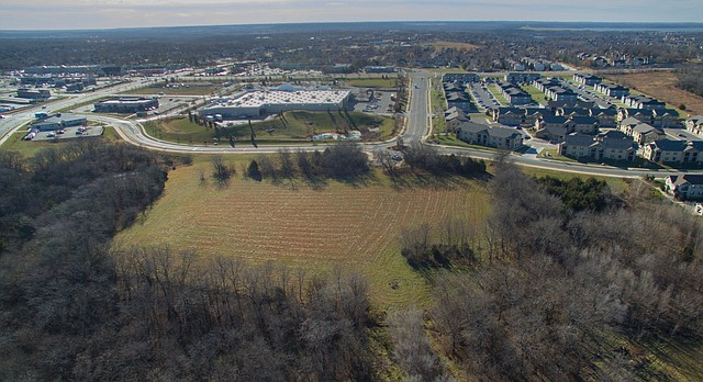 Undeveloped land owned by the City of Lawrence, at 5100 Overland Drive, is seen from the north, looking south, Tuesday, Dec. 5, 2017. The city has recommended the site, just north of the Walmart location at Sixth Street and Wakarusa Drive, as a possible location for a new $17 million police headquarters facility.