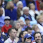 Kansas head coach Bill Self reacts after the Jayhawks were called for a foul during the second half, Wednesday, Dec. 6, 2017 at Sprint Center.