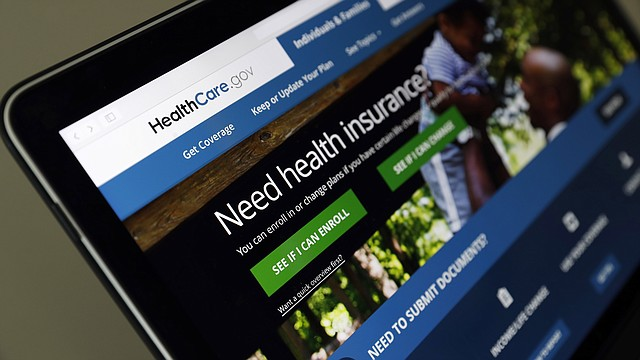 In this May 18, 2017 file photo, the Healthcare.gov website is seen on a laptop computer in Washington.