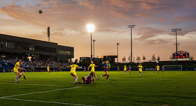 The soccer stadium at Rock Chalk Park is pictured in this file photo from Aug. 22, 2014.