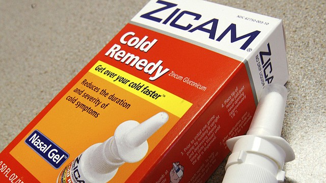 This June 16, 2009, file photo shows Zicam Cold Remedy nasal gel in Boston. The Food and Drug Administration on Monday, Dec. 18, 2017, issued a new proposal for regulating homeopathic medicines that have long been on the fringe of mainstream medicine. The agency plans to target products that pose the biggest safety risks, including those marketed for children or for serious diseases. (AP Photo/Eric Shelton, File)