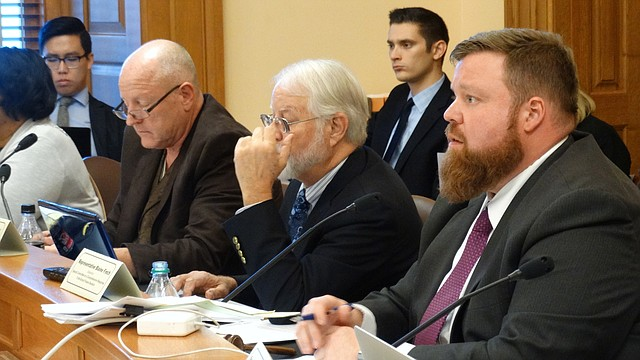 Rep. Blaine Finch, right, R-Ottawa, who chairs a special committee reviewing the Kansas Supreme Court's latest school finance decision, says there are no attractive options for coming up with another $600 million for public schools, either by raising taxes or cutting other spending.