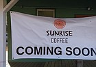 The food-focused non-profit Sunrise Project is slated to open its new coffee shop, Sunrise Coffee, at the former Sunrise Garden Center property, 1501 Learned Ave., early next year. The shop will sell brews from Lawrence-based Repetition Coffee, teas, smoothies, Italian sodas and pastries, with a plan to eventually serve sandwiches, soups, salads and other lunch options.