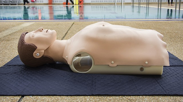 This Shutterstock photo shows a dummy used to teach CPR.