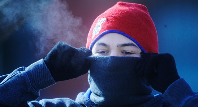 With temperatures below freezing, it's important to make sure you're bundled up when you go outdoors. Persistent shivering is a signal to return indoors.