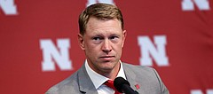 New Nebraska head NCAA college football coach Scott Frost takes a question during a news conference in Lincoln, Neb., Sunday, Dec. 3, 2017. Frost is returning to Nebraska after orchestrating a stunning two-year turnaround at Central Florida. The native son quarterbacked the Cornhuskers to a share of the national championship 20 years ago and coached UCF to a 13-0 record this season, two years after inheriting a program coming off an 0-12 record.  (AP Photo/Nati Harnik)