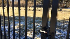 Crews recently installed this 8-foot-tall wrought iron fence around the perimeter of the Haskell Indian Nations University cemetery, located in the campus' southeastern corner. The university is hoping the new fence will protect the half-acre graveyard from vandalism after an incident last year in which gravestones were ripped out from their burial plots.