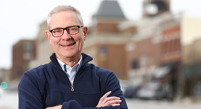 Lawrence city commission Stuart Boley will be elected by the city commission as the city's next mayor if tradition holds. Boley is pictured on Thursday, Dec. 28, 2017 outside City Hall.