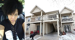 At left is Lei-Ala A. Turner, who was fatally shot shortly after 11 p.m. on Dec. 27 at 2310 W. 26th St., the August Place Apartments in south Lawrence, shown at right.