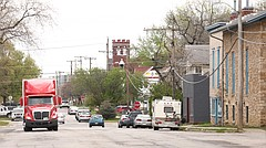 This file photo from April 2017 shows a portion of East Ninth Street in Lawrence.