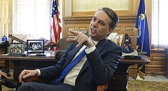 During his first full day on the job, Gov. Jeff Colyer speaks with reporters, saying he intends to announce some major personnel and policy changes in the coming days.