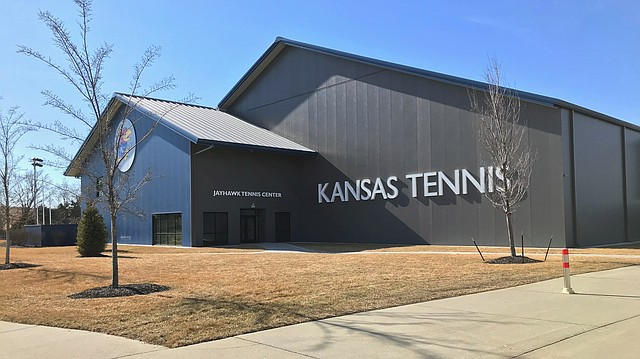 The Jayhawk Tennis Center, 233 Rock Chalk Lane, is shown on Friday, Feb. 2, 2018.