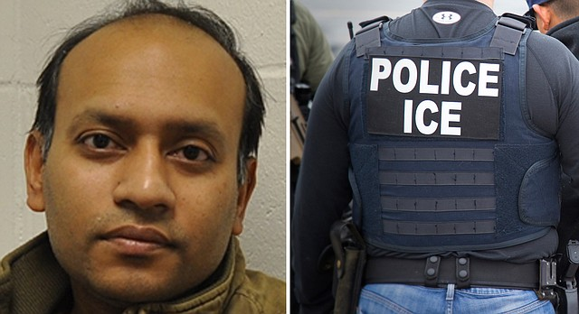 Lawrence business owner Raju Ahmed, a convicted sex offender, was arrested at his home Jan. 24, 2018 and is in the custody of United States Immigration and Customs Enforcement, whose agents are pictured in a February 2017 Associated Press file photo.