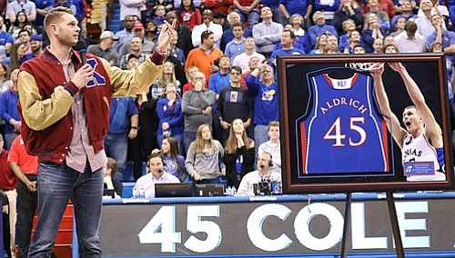 Cole Aldrich calls jersey retirement ceremony 'really humbling'