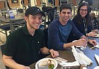 University of Kansas students eat the first kosher dinner at South Dining Commons on the evening of Tuesday, Feb. 13, 2018. The kitchen is the result of a new partnership between KU Dining Services and KU Chabad, the university's center for Jewish life.