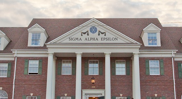 Sigma Alpha Epsilon, 1301 W. Campus Road, is pictured in this file photo from March 2009.