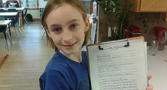 Katherine Eudaly, a fourth-grader at Raintree Montessori School, recently started a petition urging legislators to support federal funding of public television and radio. The 10-year-old, seen here with her letter addressed to U.S. Rep. Lynn Jenkins, started the project after hearing of President Donald Trump's 2019 budget proposal to eliminate funding for the Corporation for Public Broadcasting.