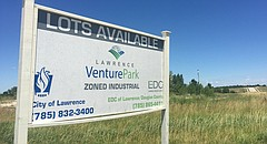 Lawrence's Venture Park is pictured in June 2017 at the corner of O'Connell Road and Venture Park Drive.