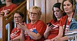 Members of the group Moms Demand Action for Gun Sense in America, which supports gun-control measures, watch from a gallery as the Kansas Senate prepares to debate gun issues, Thursday, March 15, 2017, at the Statehouse in Topeka, Kan. The Senate has rejected a proposal to make it illegal to use bump stocks to make a semi-automatic rifle mimic an automatic one (AP Photo/Mitchell Willetts)