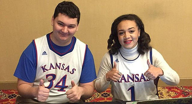 In this photo from November 2017, University of Kansas seniors, from left, Will Katz and Quaram Robinson, are pictured at the Franklin R. Shirley Classic Debate Tournament at Wake Forest University.