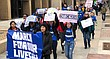 Lawrence students and community members take part in the March For Our Lives on Massachusetts Street, Saturday, March 24, 2018.