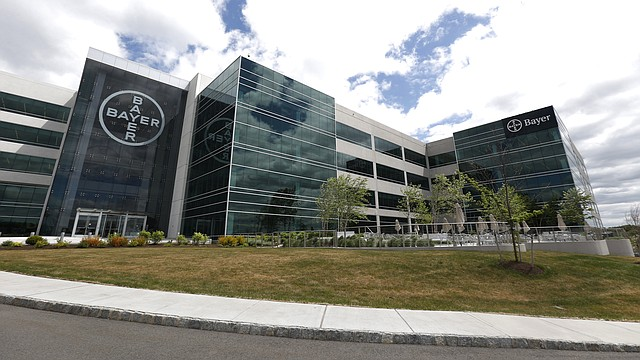 This May 13, 2015, file photo shows the North American headquarters of Bayer Healthcare in Whippany, N.J. U.S. health officials are placing new restrictions on a contraceptive implant that has been subject to thousands of reports of painful complications from women. (AP Photo/Julio Cortez, File)