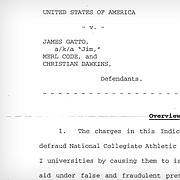 The U.S. Attorney's Office for the Southern District of New York is alleging in a federal indictment that an employee of an apparel company illegally paid the family of a University of Kansas basketball player.