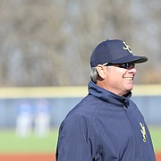 Johnson County Community College baseball coach Kent Shelley won his 1,000th career game this past week.