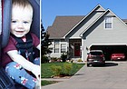 Nine-month-old Oliver Ortiz, left, died Sept. 29, 2016, at Eudora's Sunshine Kids Group Daycare Home, right. The coroner ruled the baby's death a homicide.