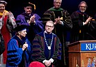 At his official inauguration as KU's 18th chancellor, Girod calls for university to expand its reach and research