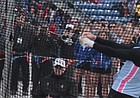 Kansas sophomore Gleb Dudarev releases the hammer during the men's hammer throw competition on Friday at the Kansas Relays at Rock Chalk Park. Dudarev's throw of 256 feet (78.04 meters) broke a 35-year-old Kansas Relays record and was the top throw in school history. The throw of 256 feet was the fifth best throw in the world his year.