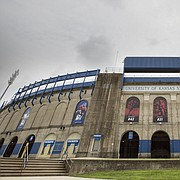 The University of Kansas' Memorial Stadium is pictured on Monday, Aug. 7, 2017.