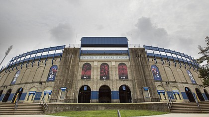 The University of Kansas' Memorial Stadium is pictured on Monday, Aug. 7, 2017.