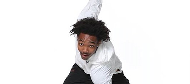 Former KU point guard Devonte' Graham poses during a photo shoot at the 2018 NBA combine.