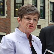 Sen. Laura Kelly, of Topeka, a Democratic candidate for governor, names fellow Sen. Lynn Rogers, of Wichita, as her lieutenant governor running mate.