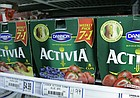 """In this AP file photo from Nov. 27, 2007, packages of Dannon's Activia yogurt are seen on a grocery shelf in Chicago. Activia is one of many products that contain probiotics, or """"friendly bacteria."""" (AP Photo/M. Spencer Green)"""