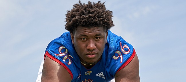 University of Kansas defensive tackle Daniel Wise