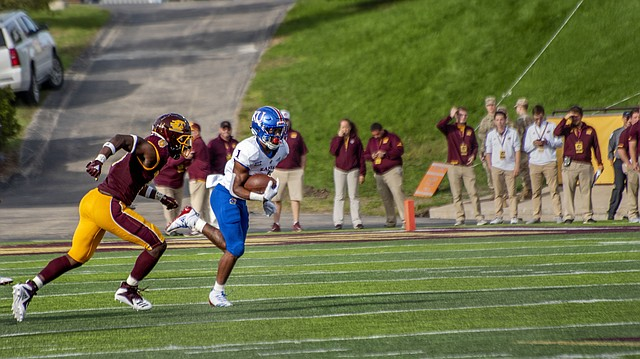 Kansas running back Pooka Williams Jr. (1) runs down the field while playing against Central Michigan University on Saturday, Sept. 8, 2017 at Kelly/Shorts Stadium in Mount Pleasant, Mich.