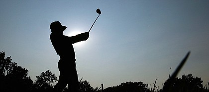 Gary Woodland tees off on the 18th hole during the third round of the PGA Championship golf tournament at Bellerive Country Club, Saturday, Aug. 11, 2018, in St. Louis. (AP Photo/Charlie Riedel)